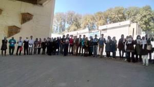 تظاهرات شاگردان آقای محمد علی طاهری روبروی زندان اوین